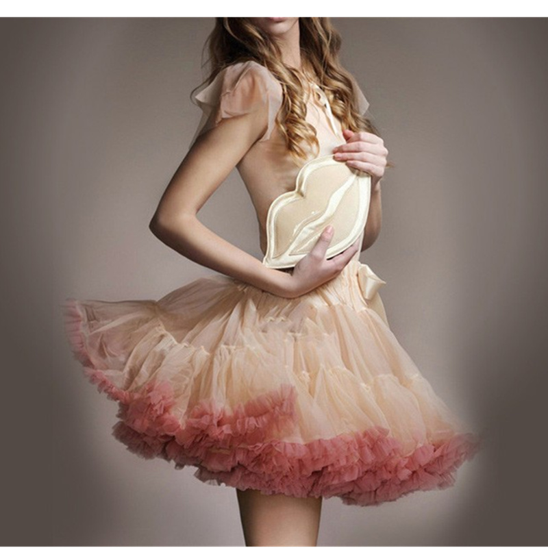 2018 Extra Fluffy Adult Tutu Skirt Woman Sexy Micro Skater Mini Skirts Tulle Skirt Party Dance Tutu Skirt Performance Clothes