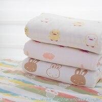 Pure cotton six layer gauze african fabric Baby cover blanket cotton fabric Sleeping bag Bath towel telas No fluorescence tissu