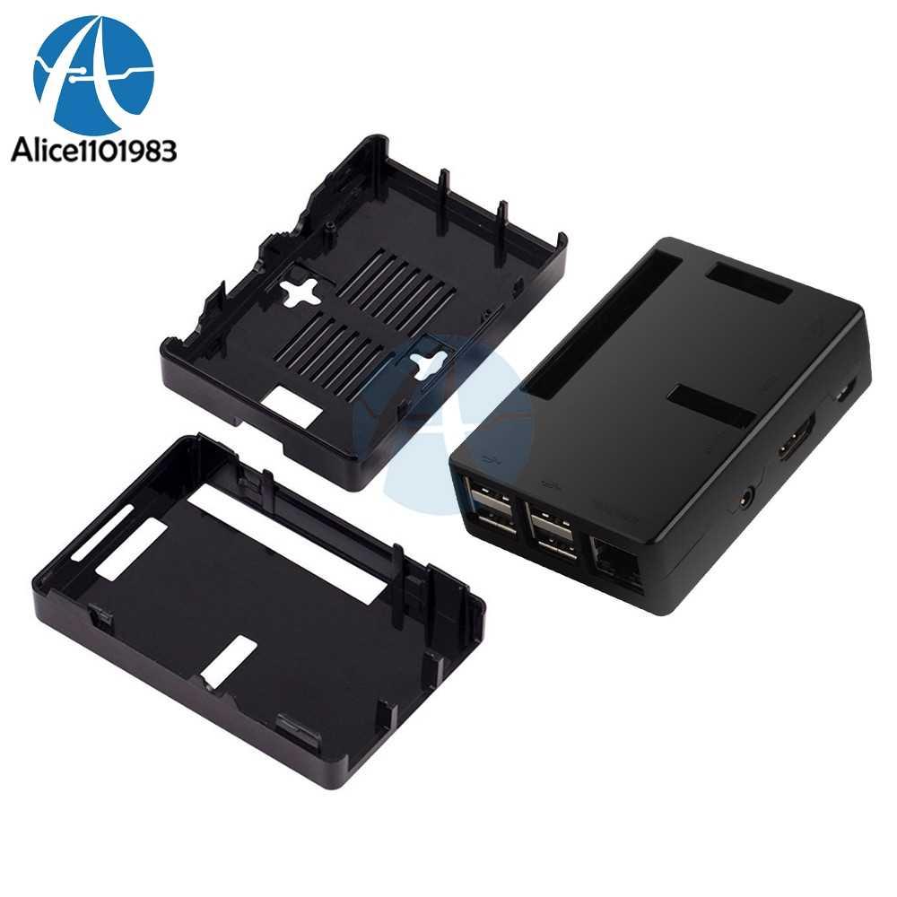 ABS V2 V2.0 حالة قذيفة مربع الضميمة إلى جميع الموانئ ل التوت بي 2 نموذج B B + أسود شفاف diy كيت الإلكترونية