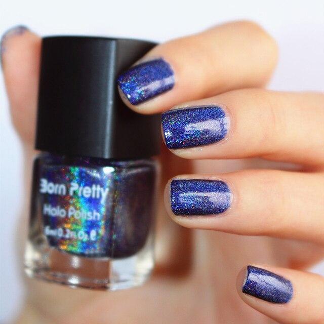 Newly 1 Box 6ml Dark Charming Sky Blue Born Pretty Holographic ...
