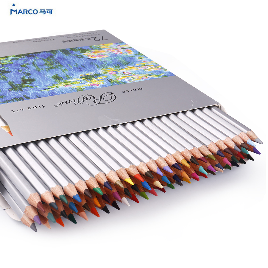 Marco Raffine colored pencils color pencils drawing profesional set 24 36 48 72 Colors Drawing Sketches Colour Pencil case