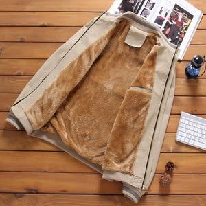 Image 5 - Mountainskin Fleece Jackets Mens Pilot Bomber Jacket Warm Male Fashion Baseball Hip Hop Coats Slim Fit Coat Brand Clothing SA690