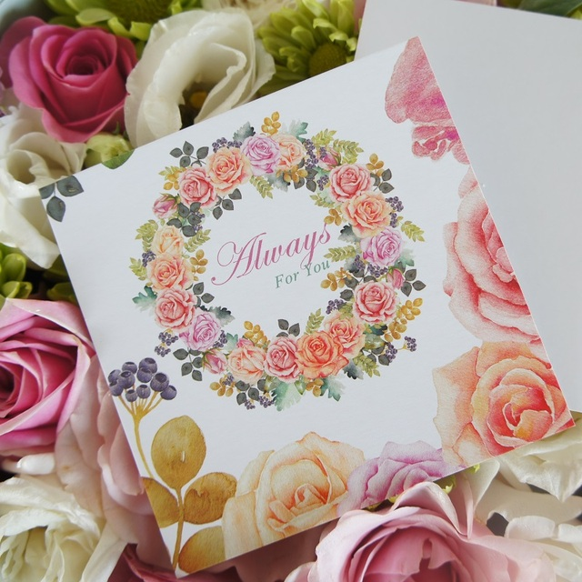 Aliexpress.com : Buy 50pcs Mini always for you Card rose ...