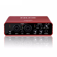 Hot UC 2 Mini Port USB XLR 6 35mm Input Output Audio Interface For Mic MIDI