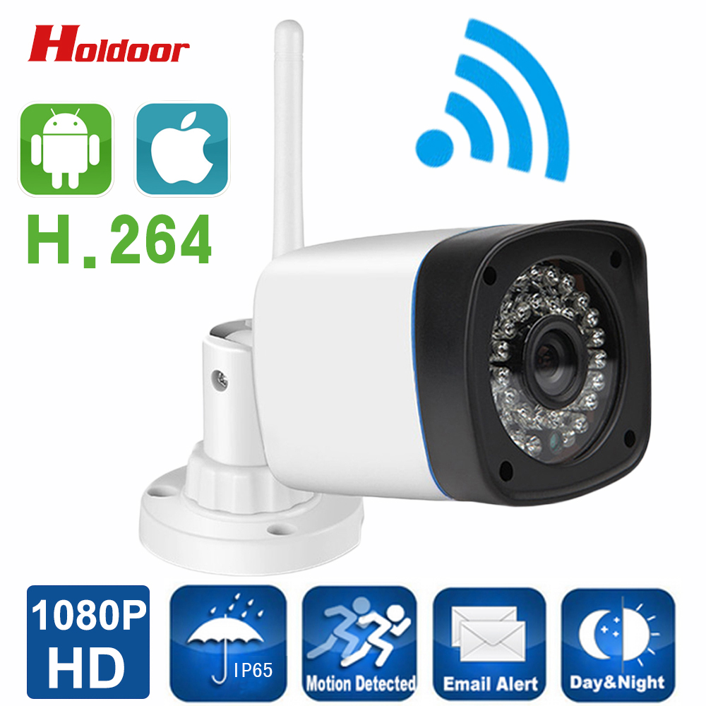 Hd Bullet Ip Camera Wifi 1080p Wireless Waterproof IP65 Infrared Night Vision Motion Detect Onvif Cctv Webcam Free shipping bullet camera tube camera headset holder with varied size in diameter