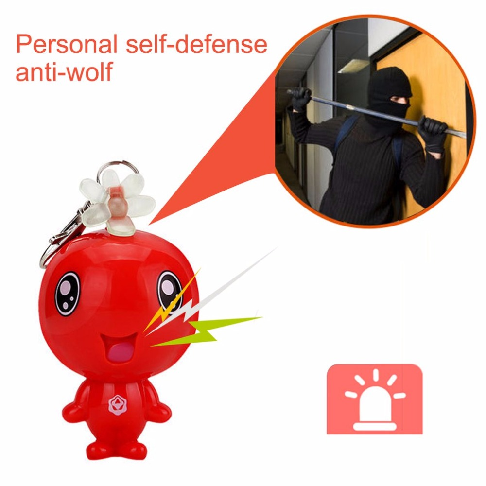 120dB Super Loud Personal Safety Alarm Mini Cute Alarm Key Chain Self Defense Anti-Attack Supplies Emergency Alarm For Women Kid 2016 2pcs a lot self defense supplies alarm personal key ring protection alarm alert attack panic safety security rape alarm
