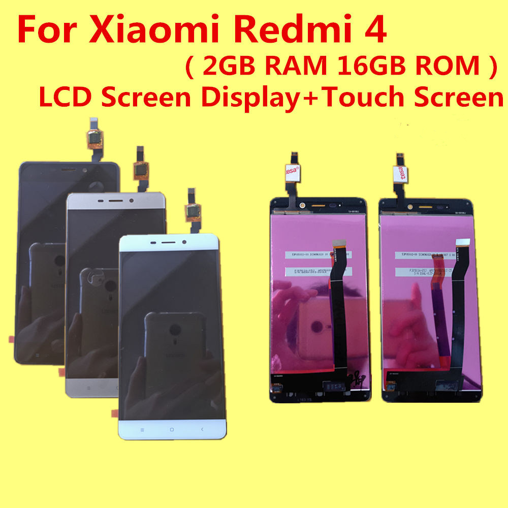 tested For Xiaomi Redmi 4 2GB RAM 16GB ROM LCD Screen Display Touch Screen Replacement