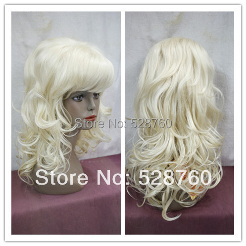 New Arrival  613# color  Long wavy blonde wigs Women's fashion wig  Free Shipping