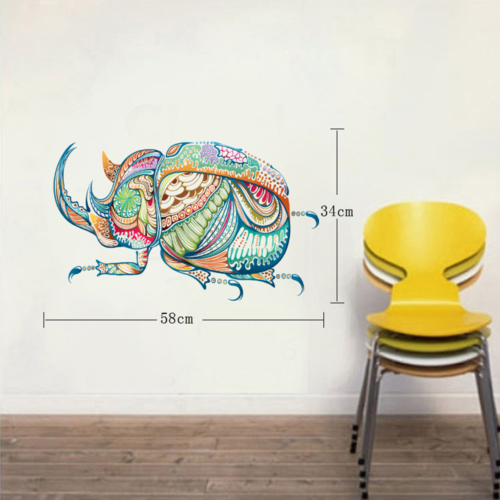 Cartoon Beetle Insect Personalized Wall Sticker Removable Wall Decals Kitchen Living Room Bedroom Stickers Mural Decorative-in Wall Stickers from Home ...  sc 1 st  AliExpress.com & Cartoon Beetle Insect Personalized Wall Sticker Removable Wall ...