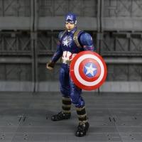 17 cm/6.5in Capitão América Steve Rogers Brinquedo Figura de Ação de Super-heróis Vingadores Chris Evans Uniforme da Guerra Civil Modelo Livre grátis