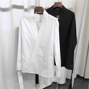 HOT ! 2017 catwalk stage tide men's fashion long-sleeved shirt England street fashion Slim shirt formal dress shirts