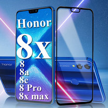 Protective glass on the for huawei honor 8x max tempered screen protector 8a 8c 8 pro a c x x8 huawai honer glas film case cover(China)