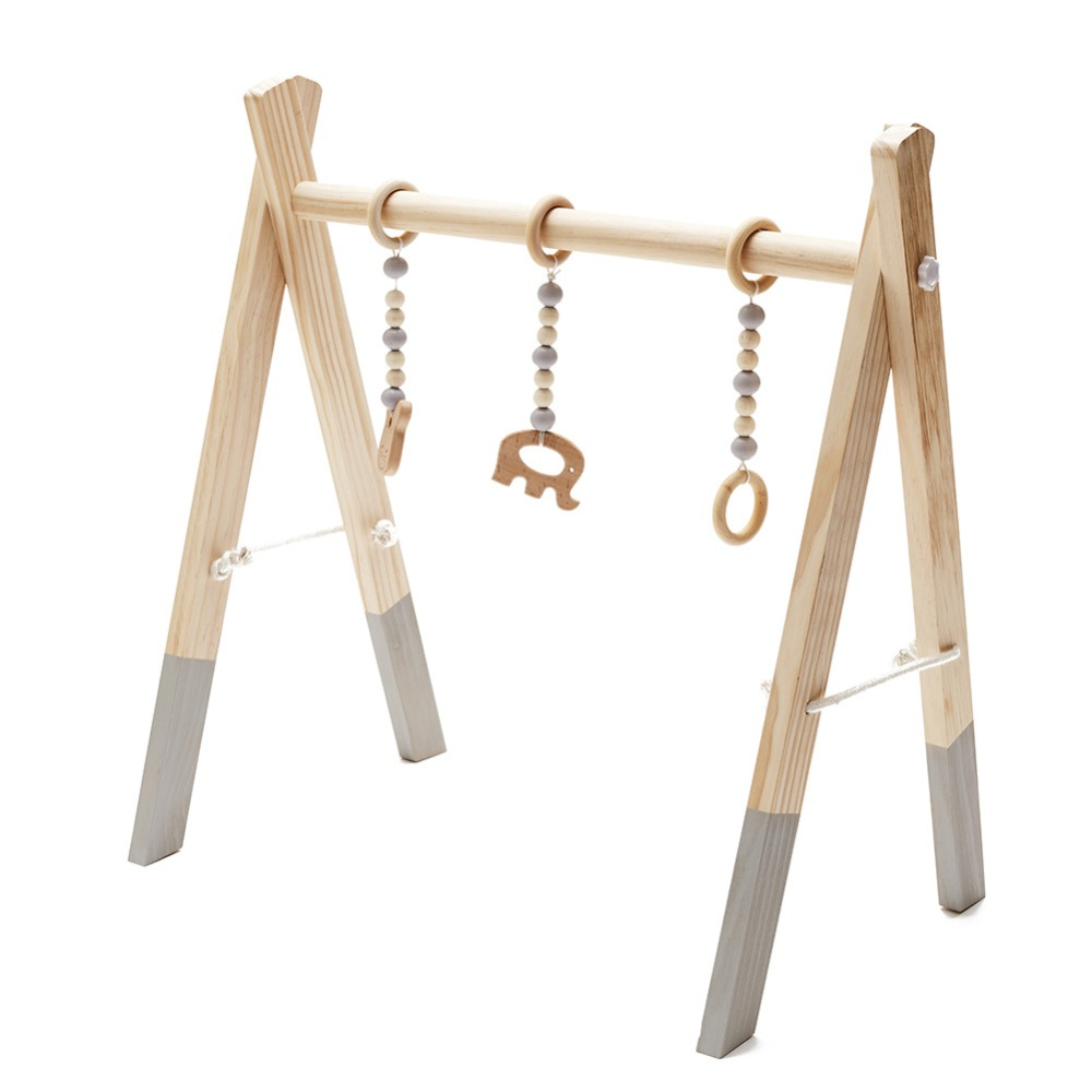 Hot Wooden Baby Play Gym Toys Activity Gym Toy Accessories Sensory Toy Gift Infant Room Clothes Rack Photography Props Gifts