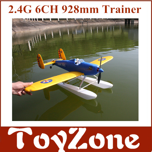 Free Shipping RTF HAWK KING Rc Model Seaplane With Water Float EPO Brushless version 928mm 2.4Ghz 6 Channel with remote control image