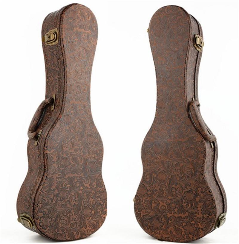 Afanti Music 23 size / 26 size Ukulele Guitar Bag (FTG-215) niko black 21 23 26 ukulele bag silver edge nylon soprano concert tenor soft case gig bag 5mm thick sponge
