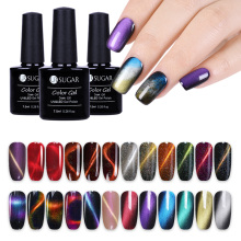 UR SUGAR Color Changing Chameleon Holographic Glitter Magnetic Gel Laser Varnish Nail Art Lacquer Soak Off UV Polish