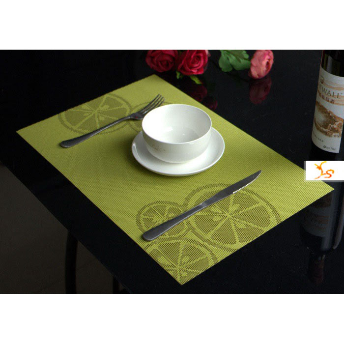 decorative square table placemats anti scald flash drying pvc kitchen mats pads christmas party. Black Bedroom Furniture Sets. Home Design Ideas