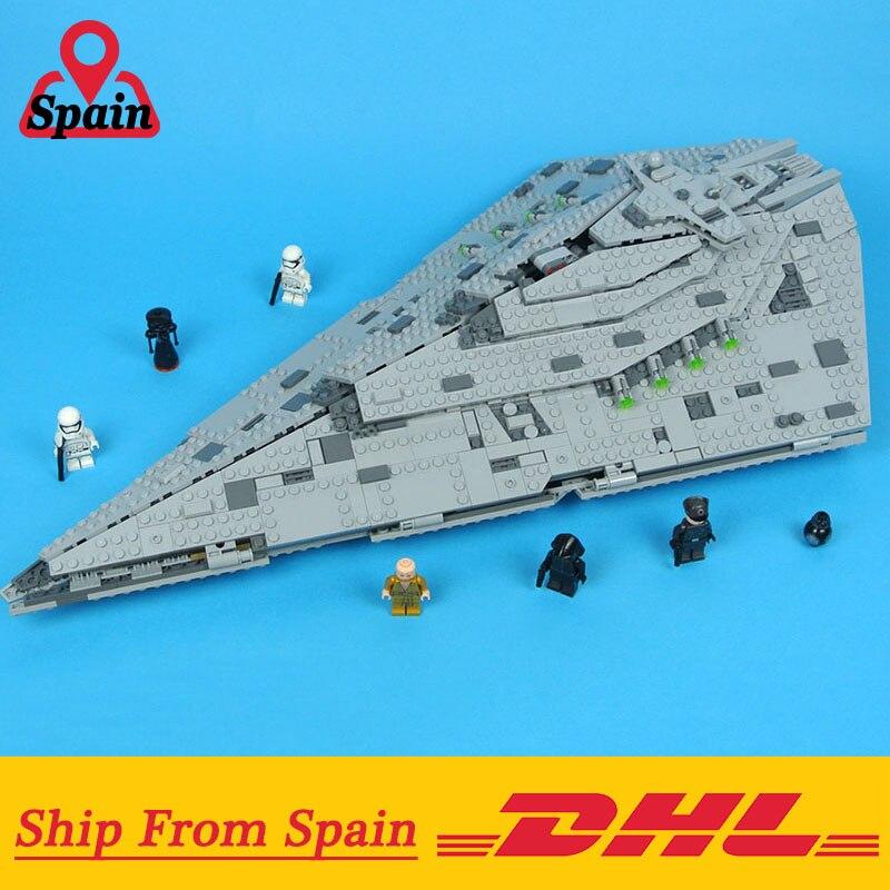 Star Wars 05131 Primo Ordine Star Destroyer Modello Building Block Giocattoli Dei Mattoni Compatibile con Legoings 75190-in Blocchi da Giocattoli e hobby su  Gruppo 1
