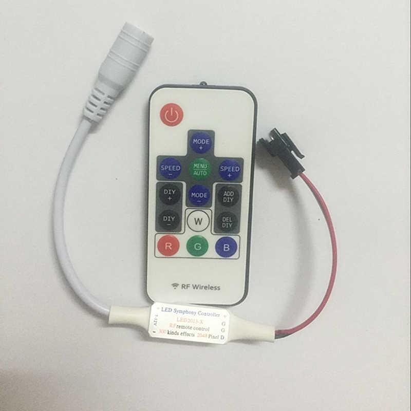 2016 Новинка Беспроводной РФ цифровой Цвет Светодиодные ленты WS2811 контроллер 12 В РФ контроллер для 5050 WS2811 Светодиодные ленты лампы модули
