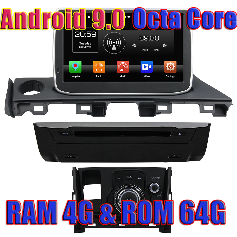 WANUSUAL Octa Core <font><b>Android</b></font> 9.0 Car GPS Navigation For <font><b>Mazda</b></font> <font><b>6</b></font> <font><b>Atenza</b></font> 2017 DVD Autoradio Player 2 Din Multimedia Magnitol Audio image