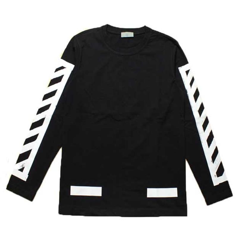 Kanye West Autumn T Shirt Fashion OFF WHITE Cotton Brand ...