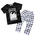 Korean version baby boys summer cotton clothes Milk bottle printing cotton T-shirt and casual Pants