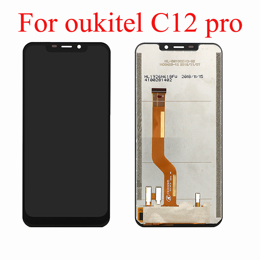 Mobile Phone Touchscreen For Oukitel C12 PRO Full LCD Assembly Touch Screen Panel Digitizer Front Glass Sensor C 12 Accessories