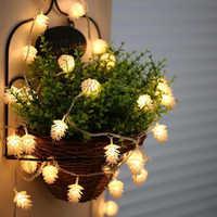 5 m 40 led corda de ano novo luz de fadas pinho cone decorações da árvore de natal para casa natal natal árvore guirlanda produtos do ano novo