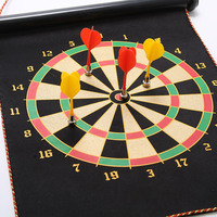 Magnetic two sided darts target flocking dart target safety fitness training professional toys