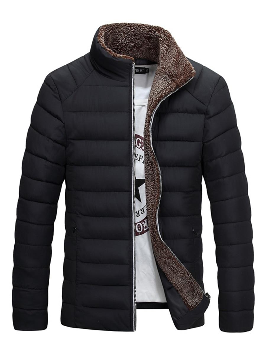 Winter Jacket Men 2018 Fashion Stand Collar Male Parka ...