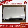 """14 """"дюймовый дисплей СО СВЕТОДИОДНОЙ 1920*1080 B140HAN01 B140HAN01.2 LP140WF1 SPK1 SPU1 30pin Для Lenovo U430P ЖК-экран"""