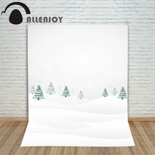 Fir-tree photography backdrops tree snow winter xmas kids holiday merry Digital Printing photo props christmas backgrounds
