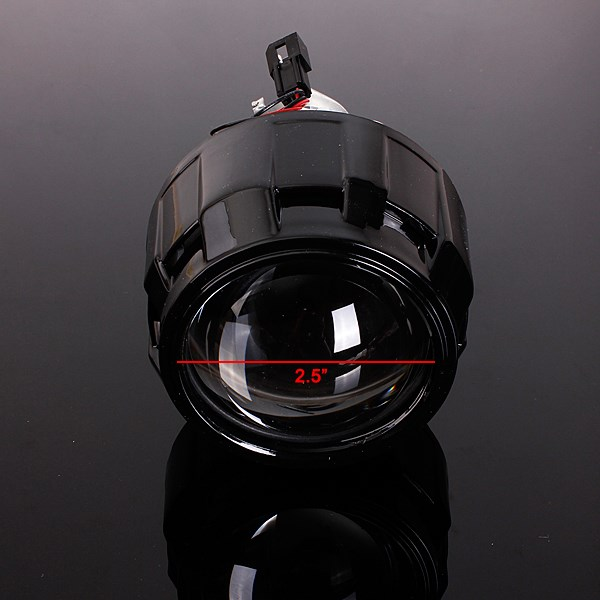 Car Accessories Car Styling Retrofit 2.5 H1 HID Bi-Xenon Headlight Projector Lens With Mini Gatling Gun Shroud