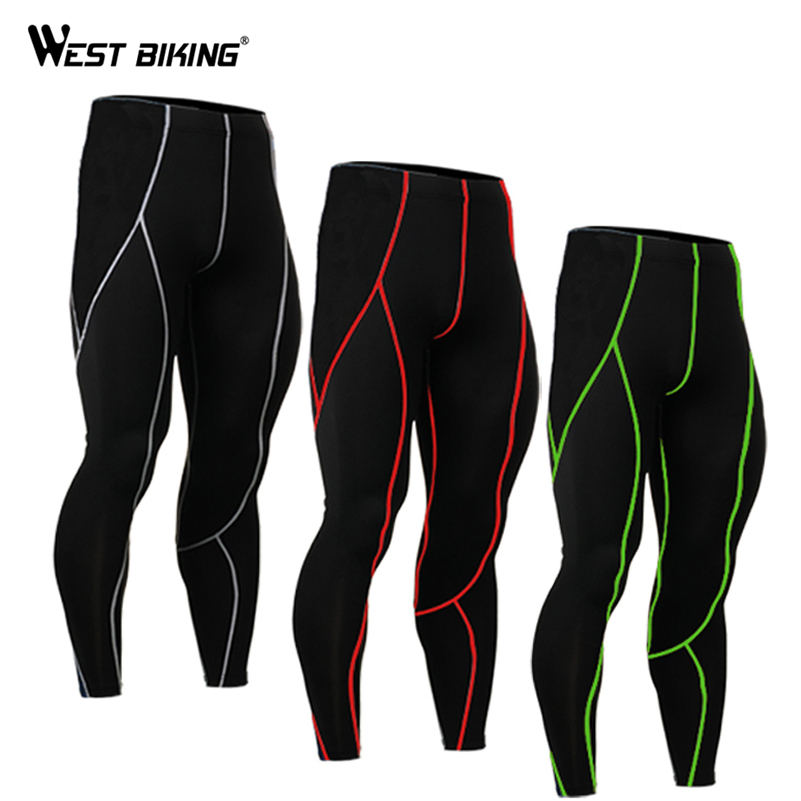 WEST BIKING Running Long Pants Spring Autumn Ropa Ciclismo Bike Cycling Legging Running Fitness Compression Tights For Men