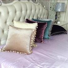 Tassel Velvet Luxury Cushion Cover