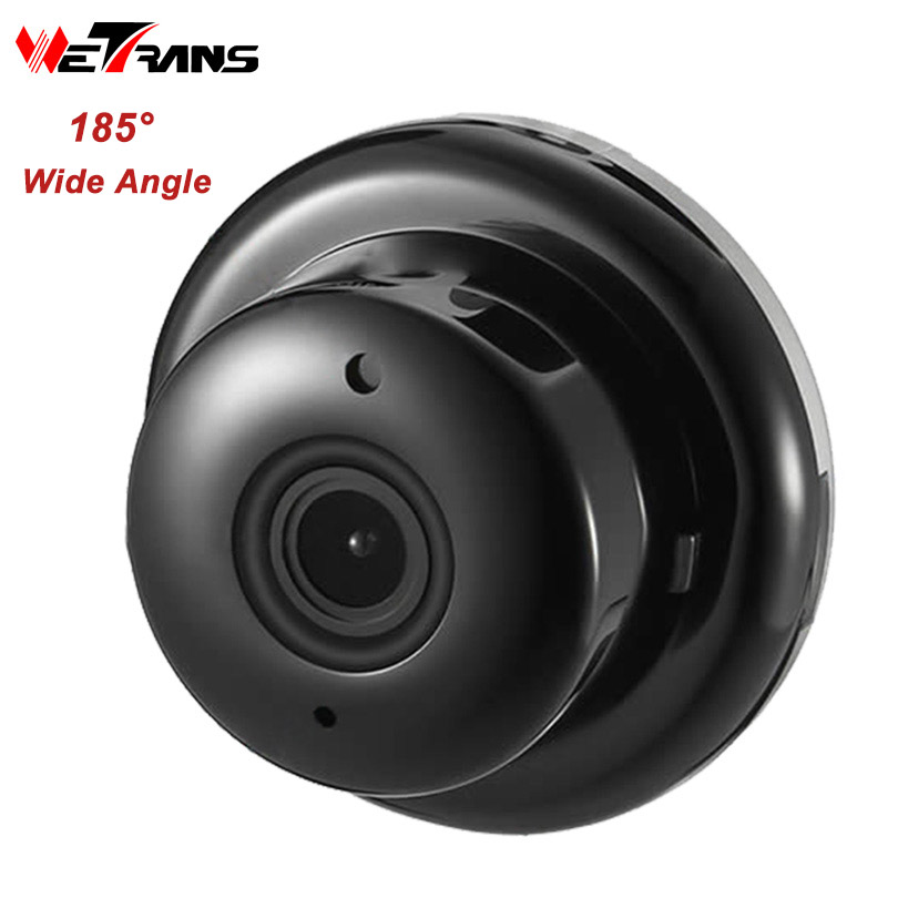 Wetrans IP Camera Wifi CCTV Security Wireless Home Wifi Camera Mini 720P HD Fisheye Wi-fi IP Cam Surveillance P2P Panoramic 1mp mini camera ip wireless 720p hd smart 180 panoramic network mini security p2p camera home cctv surveillance ip camera