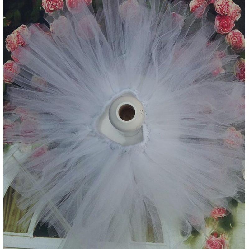 Лидер продаж; фатиновая юбка-пачка для маленьких девочек и повязка на голову с цветами; Комплект для новорожденных; реквизит для фотосессии; подарок на день рождения; 10 цветов; ZT001 - Цвет: only skirt white