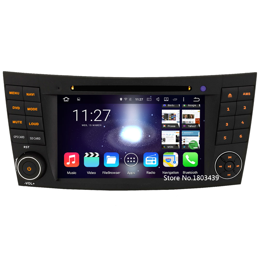 Quad core Android 5.1.1 2Din 1024*600 Car DVD Player Radio Audio Stereo Screen PC For Benz E Class W211 CLK W209 CLS W219 G W463