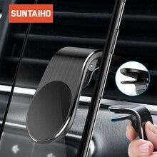 Suntaiho磁気自動車電話ホルダーl型空気ベントマウントは、iphoneの × 7 8サムスンS9車用マグネットgps携帯電話ホルダー