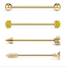 4PCS/Set Gold Silver Stud Earrings Stainless Steel Ear Bone Nail Piercing Stud Earring For Women Body Jewelry Barbell Jewelry