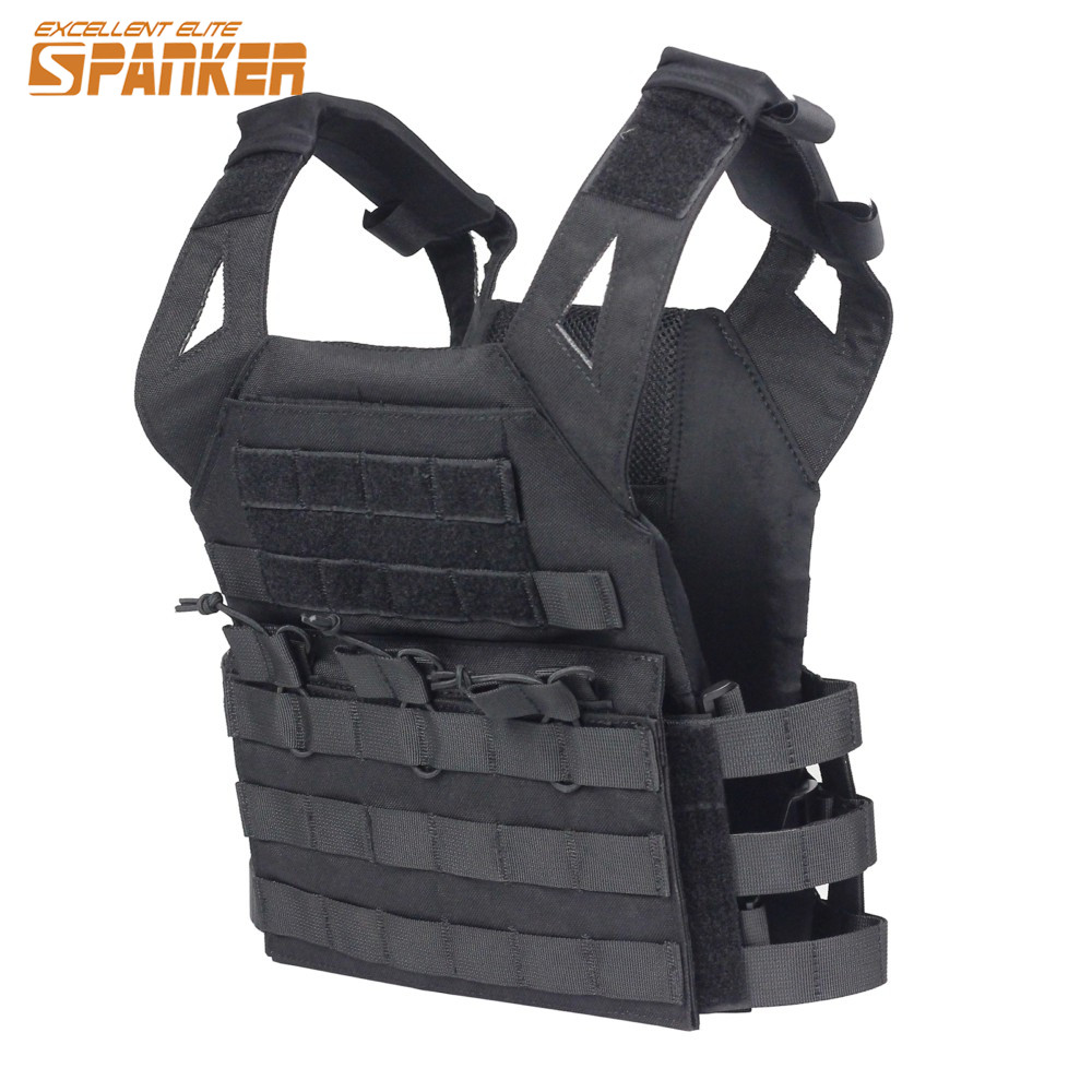 SPANKER Outdoor Airsoft CS Game Children 1000D Nylon Molle Tactical Vest Kids Paintball Shooting Safety Plate Carrier JPC Vest fire maple sw28888 outdoor tactical motorcycling wild game abs helmet khaki
