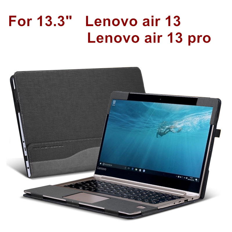 Detachable Cover For Lenovo air 13 pro 13.3 Inch Laptop Sleeve Case Notebook PU Leather Protective Skin Stylus As Gift