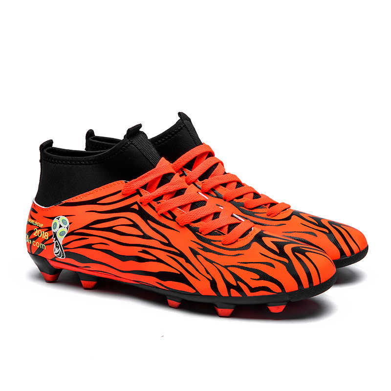 Soccer Shoes Fly Men Football Boots Kids High Ankle Superfly Soccer Cleats Long Spikes Football Trainers Outdoor Sport Sneakers