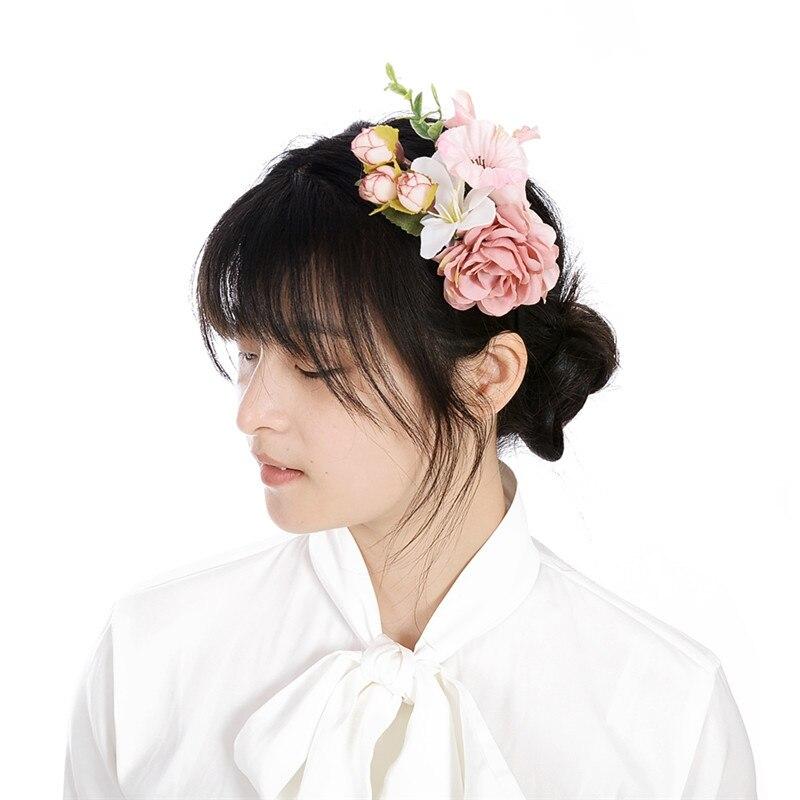fashion big flower hair accessories
