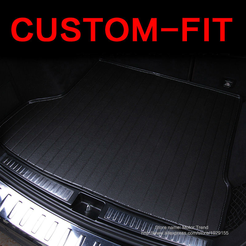 Custom fit car trunk mat for Land Rover Discovery 3/4 freelander 2 Sport Range Rover Sport Evoque 3Dcarstyling cargo liner HB24 custom fit car floor mats for land rover discovery 3 4 freelander 2 sport range sport evoque 3d car styling carpet liner ry217
