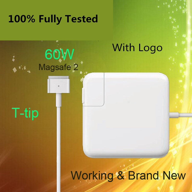 Crazy Cow For magsafe 2 60W 16.5V 3.65A T tip power adapter charger for apple For Macbook pro 13 A1435 A1465 A1425 A1502 new original magsafe 60w 16 5v 3 65a power adapter charger for apple macbook pro a1184 a1330 a1344 a1278 a1342 a1181 a1280
