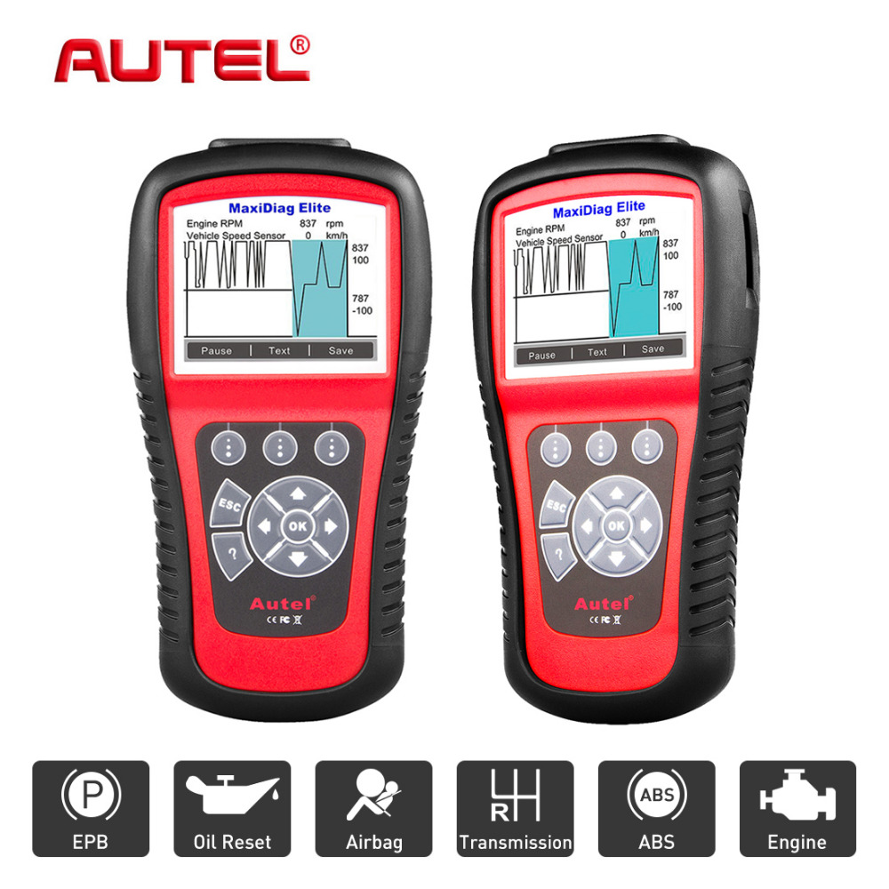 цена на Autel MaxiDiag Elite MD802 4 System Car Diagnostic tool Auto OBD OBD2 Code Reader Automotive Scanner Automotivo Scan Tools