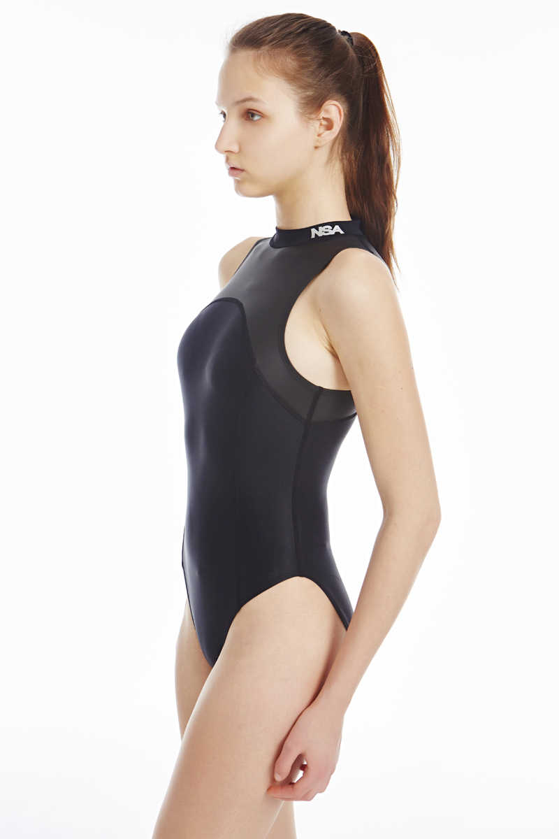 aec917ace0184 ... NSA blackTriangle conjoined Water polo women's bathing suit Cultivate  one piece show thin waterproof professional swimwear ...
