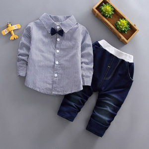 Image 5 - toddler boys clothing 3 pieces/set childrens wear Korean version fall clothing house print jacket + t shirt + jeans baby suit