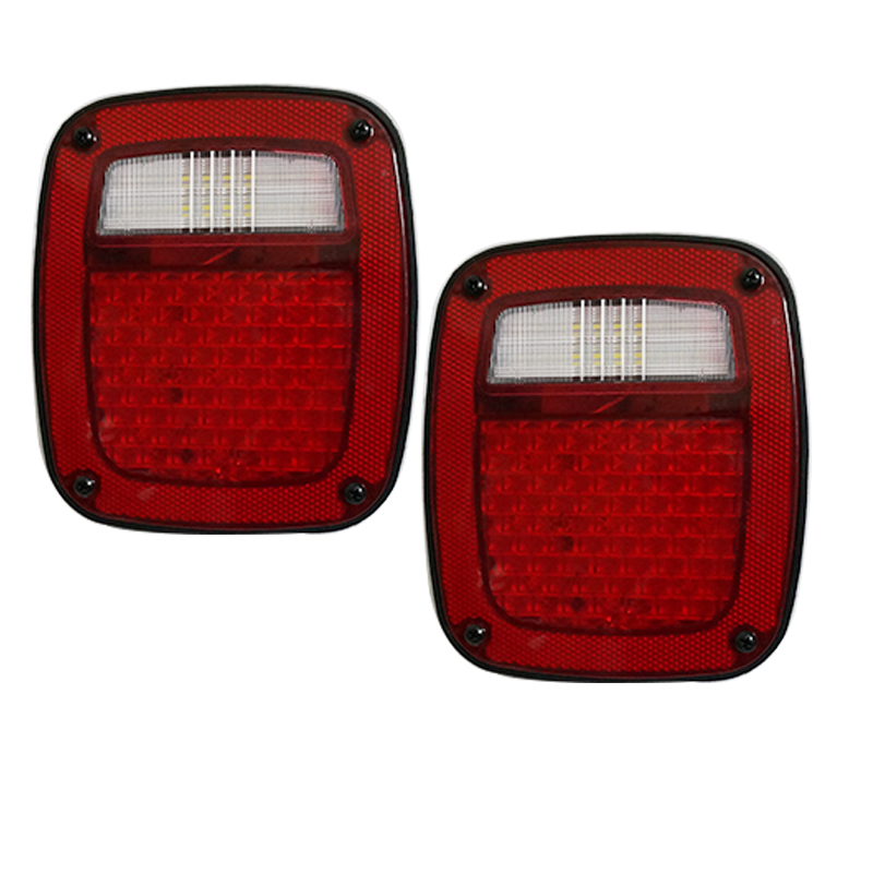 Free Shipping 2PCS LED Tail lights for Jeep TJ Wrangler 97-06 led taillight USA Version for 97 98 99 nissan maxima 4 pcs tail lights red clear usa domestic free shipping
